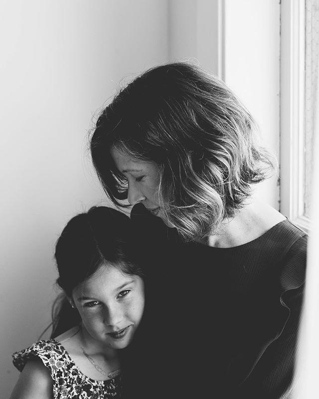 Just some quick portraits of mom & daughter #makeportraits #mothersanddaughters #bwportraits #studiophotos #sixandtenstudio