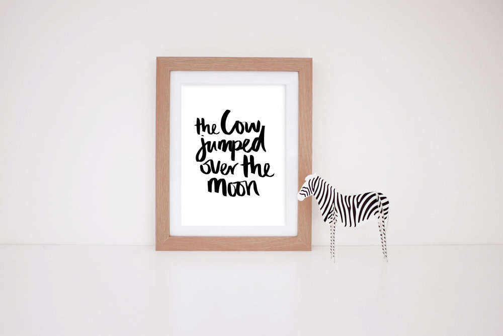 MaryRizzaCruzCreative_ArtInFrame_Zebra_Nursery_BL_TheCowJumpedOverTheMoon_2016.jpg
