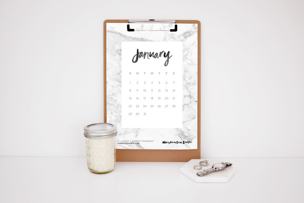 MaryRizzaCruzCreative_2017Calendar-JanMarble_Clipboard_StyledWatchRingsCandle_2016.jpg