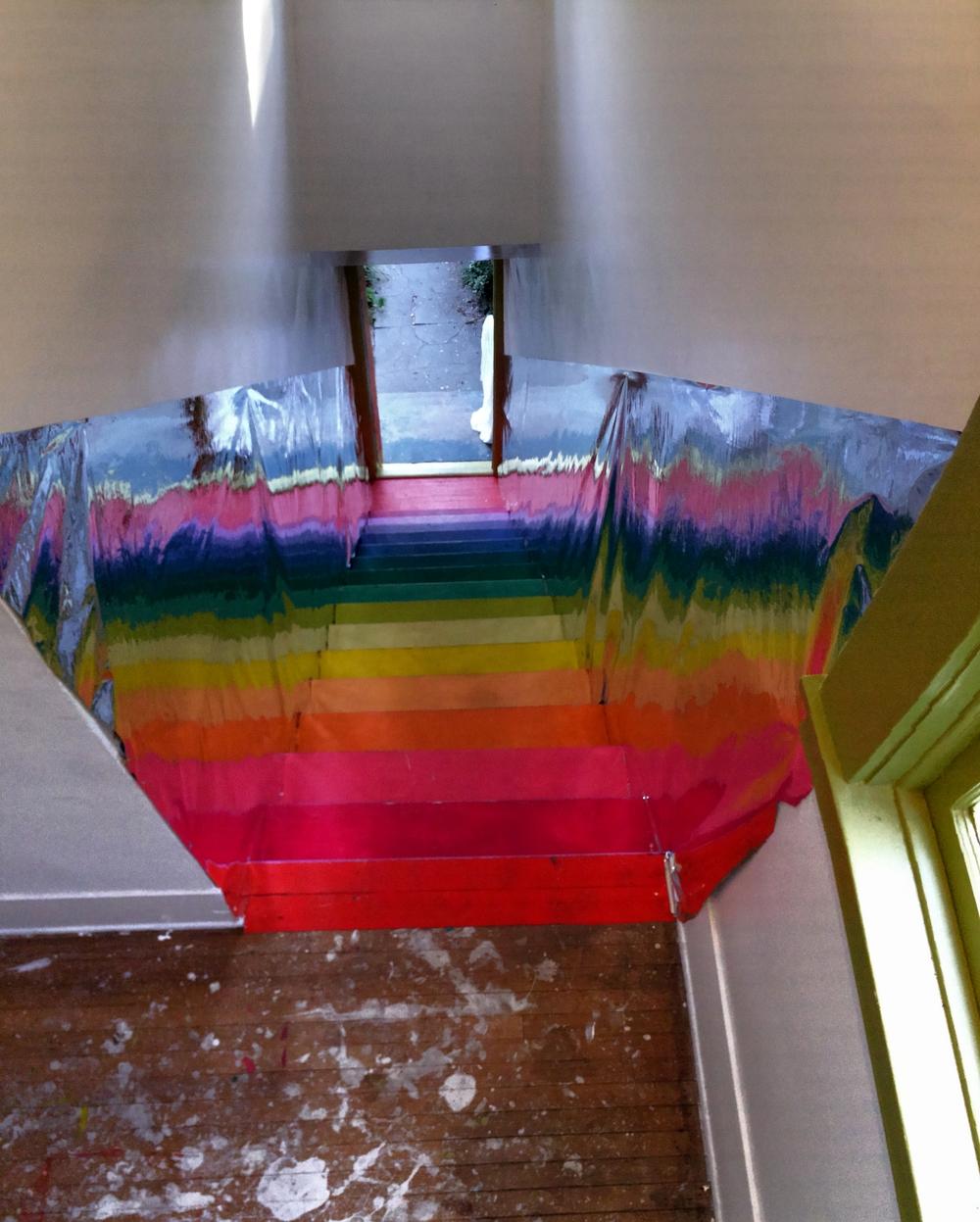 AFTER: Rainbow rabbit-hole