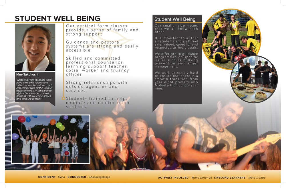 Sample of redesign of Motueka High School Prospectus