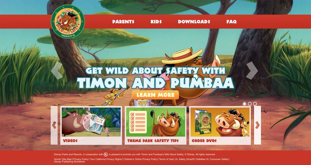 Disney's Wild About Safety website