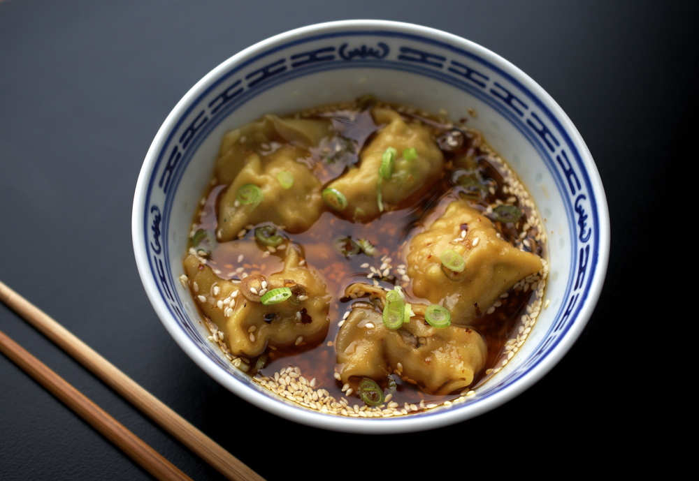 Sichuan Wontons in Chili Oil Sauce