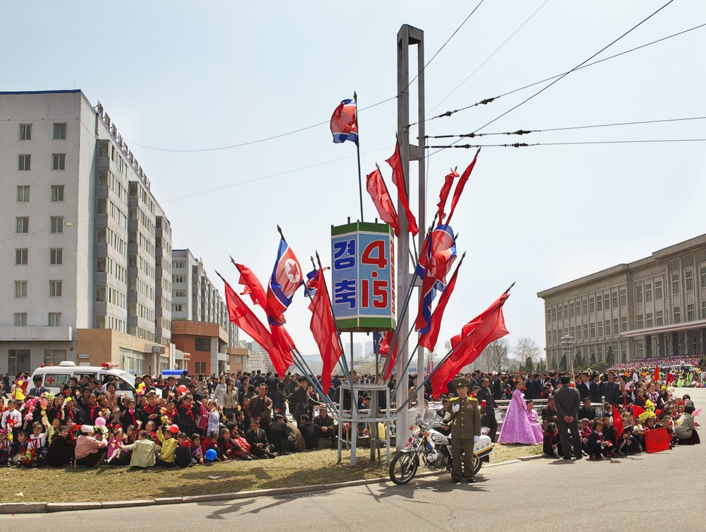 100th birthday parade, North Korea Architecture of Propaganda - Wolf Nitch Photography