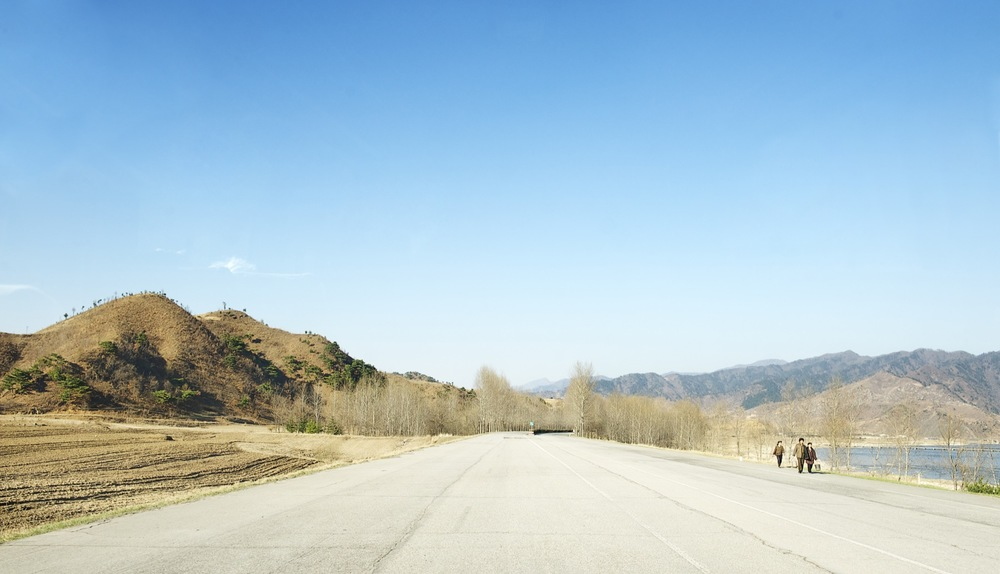 Highway, North Korea Architecture of Propaganda - Wolf Nitch Photography