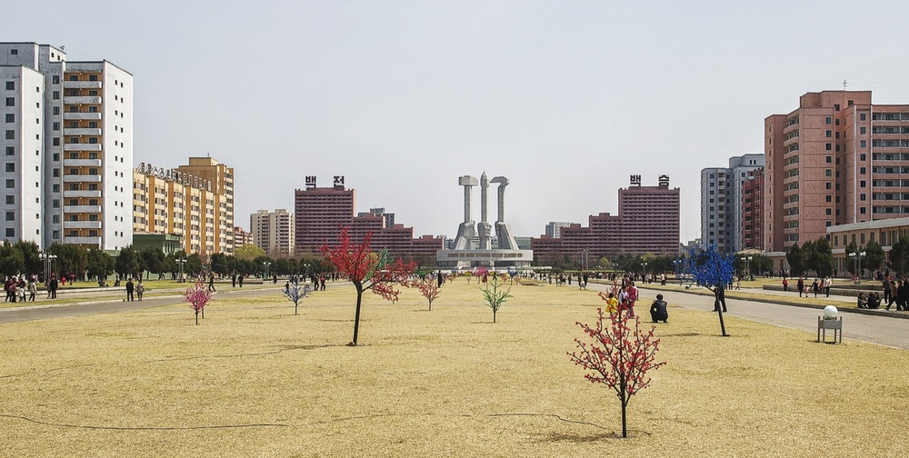 Square, North Korea Architecture of Propaganda - Wolf Nitch Photography