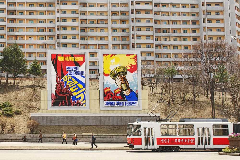 Public Transport, North Korea Architecture of Propaganda - Wolf Nitch Photography