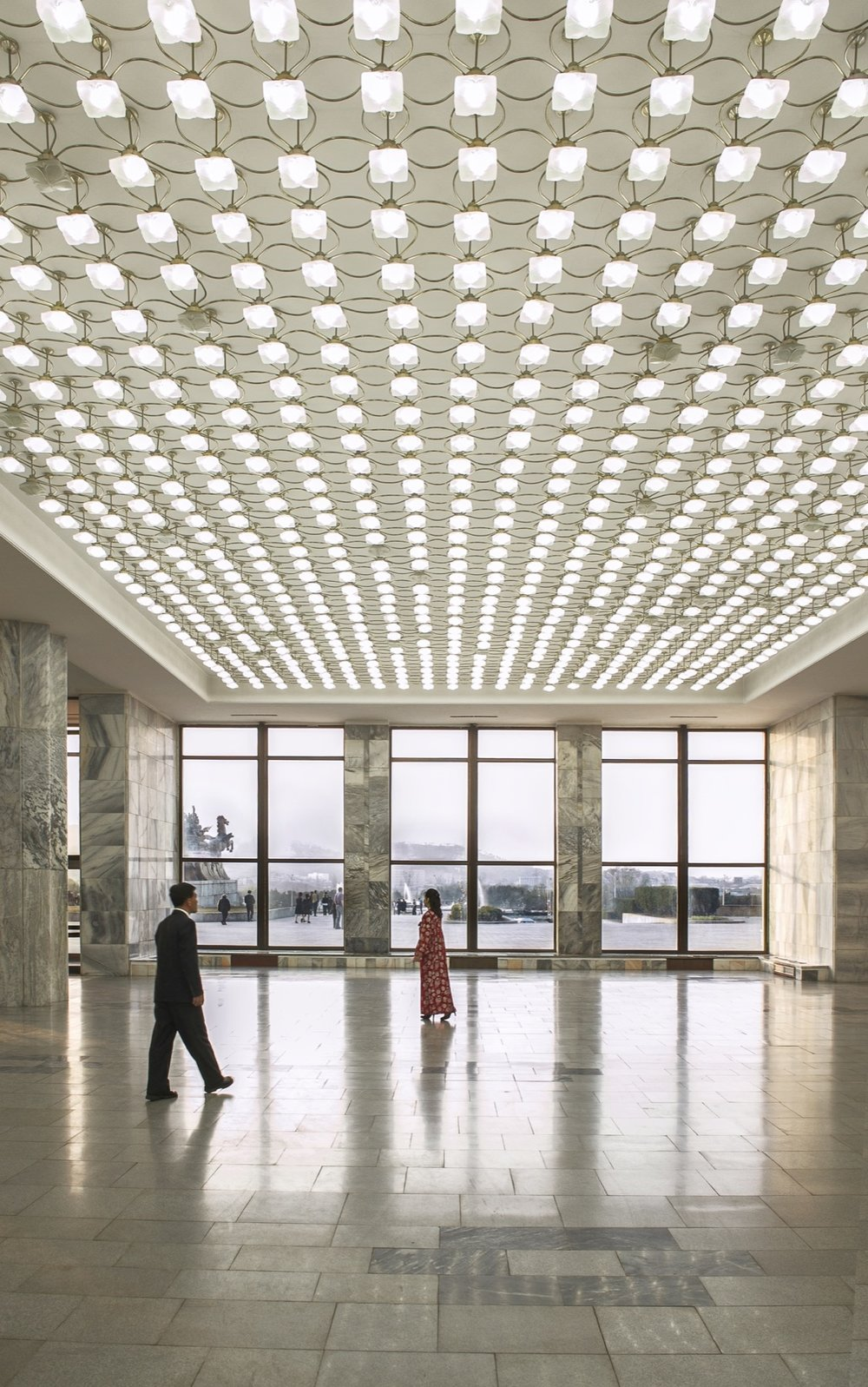 Lobby, North Korea Architecture of Propaganda - Wolf Nitch Photography
