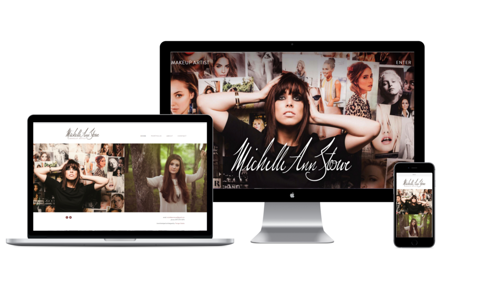 Website design Mockup for Makeup artist brand - Michelle Ann Stowe