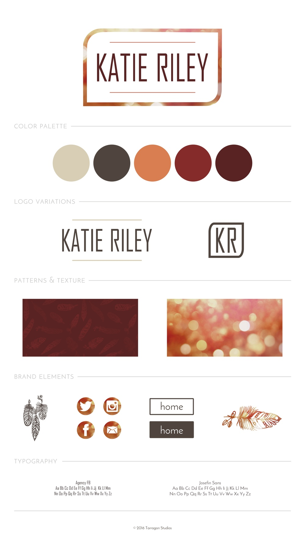 Brand & Logo Design for Musician Katie Riley by Tarragon Studios. Keep reading to see more of Katie's boho brand! #logo #design #musician #boho