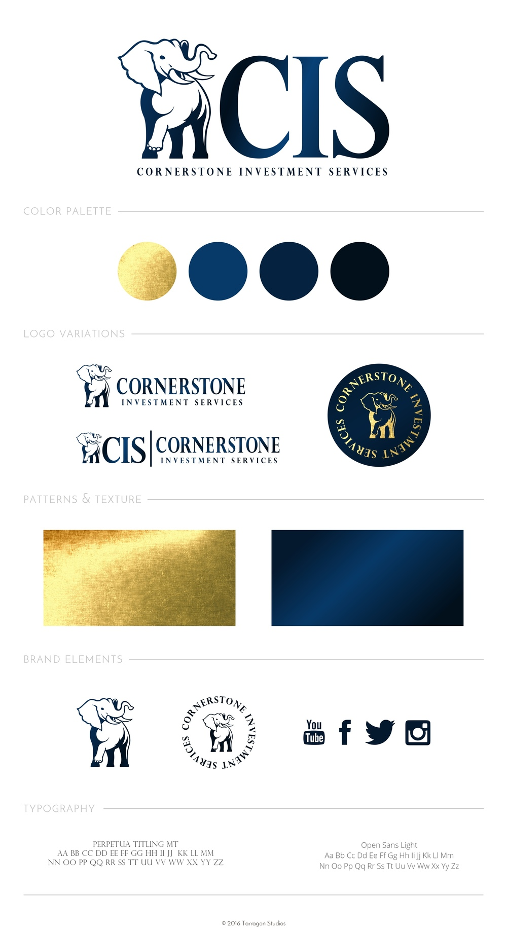 Brand style guide for Cornerstone Investment Services. For more inspiration click to check out the blog!