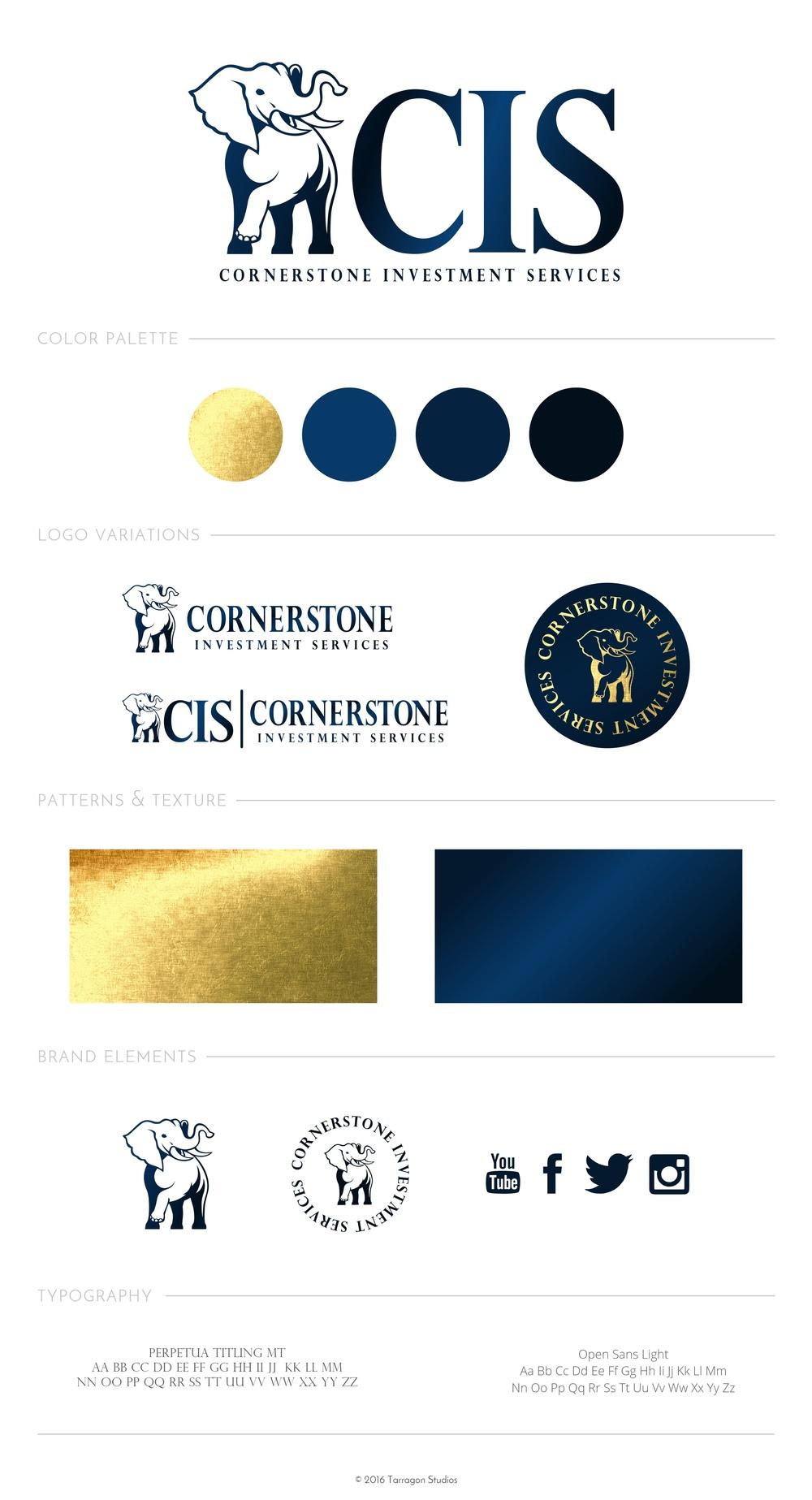 Logo & Brand for Cornerstone Investment Services by Tarragon Studios. #logo #design #branding #unique