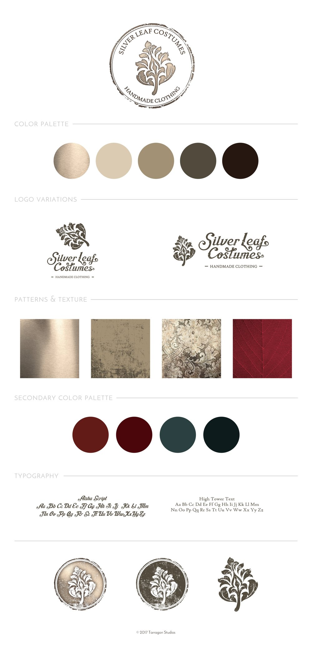 Silver Leaf Costumes - Style Guide - by Tarragon Studios