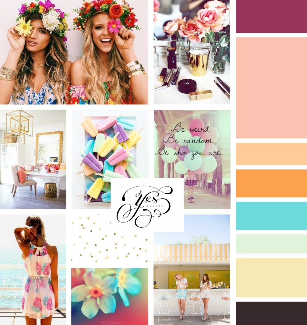 Garnish Cosmetics Mood Board Inspiration Board by Tarragon Studios
