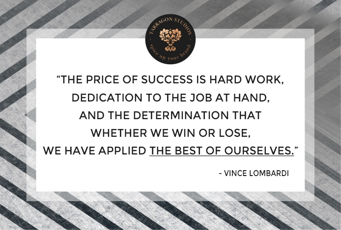 """The price of success is hard work, dedication to the job at hand, and the determination that whether we win or lose, we have applied the best of ourselves to the task at hand."" vince lombardi success quote"