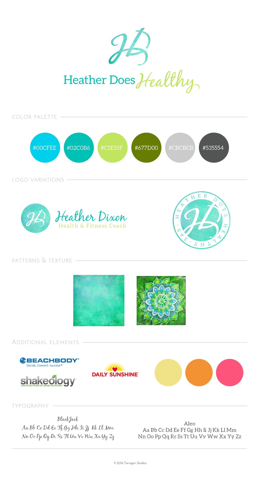 Heather Does Healthy Style Guide by Tarragon Studios