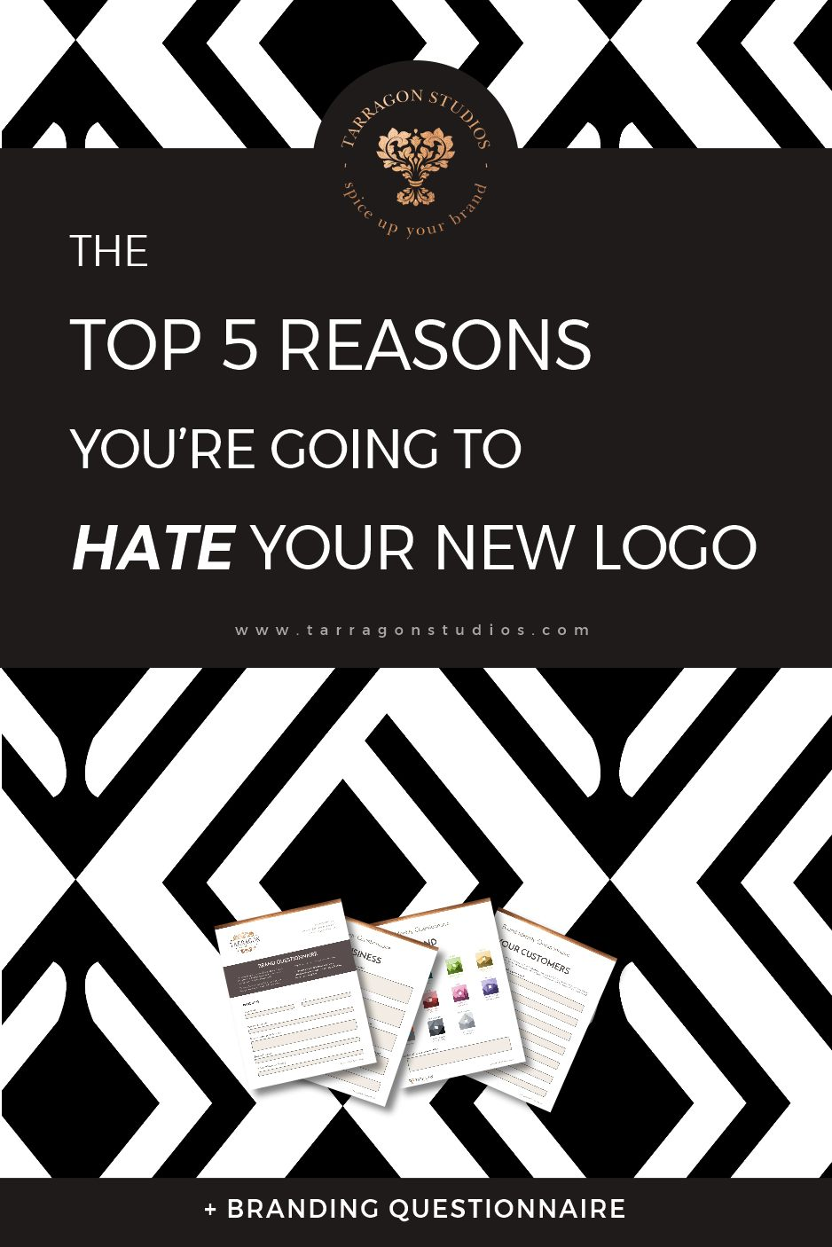 So, you've come up with a stellar business plan and the perfect company name, the next item on your list is to get that logo and you'll be in business! However, don't let excitement lead you to rush the design process or you'll be sure to end up with a logo your hate! Read more to find out how to avoid these top 5 logo design problems! #logo #design #branding #business #smallbusiness