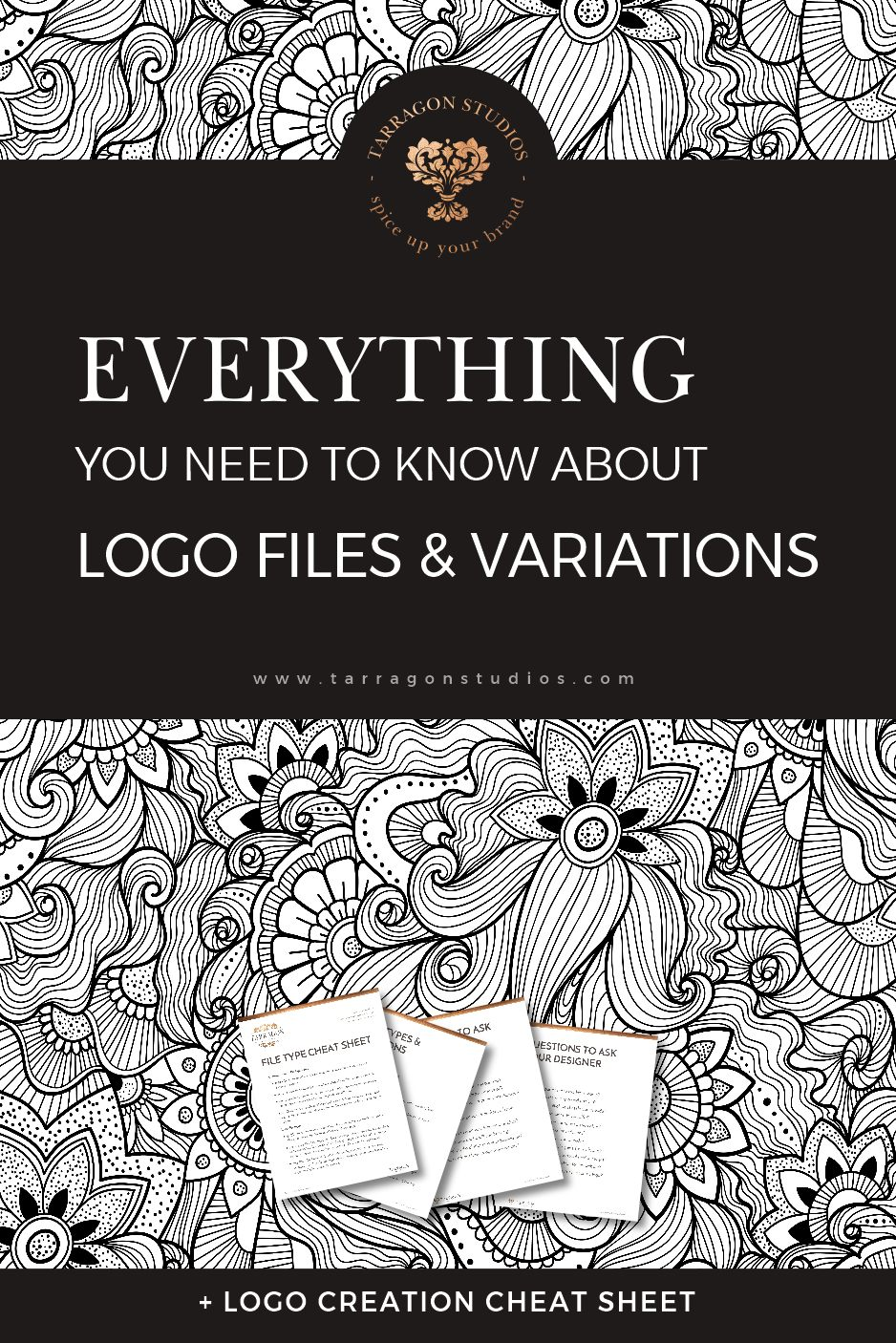 "Shopping for a logo? Making one yourself?  Do you keep getting tripped up in terms like ""raster,"" ""vector,"" or ""dpi""?  Well then take a deep breath, my friend, grab a cup of coffee and relax. Follow the link to discover  everything you need to know about logo files, logo variations and how to use them! #logo #design #smallbusiness #branding"
