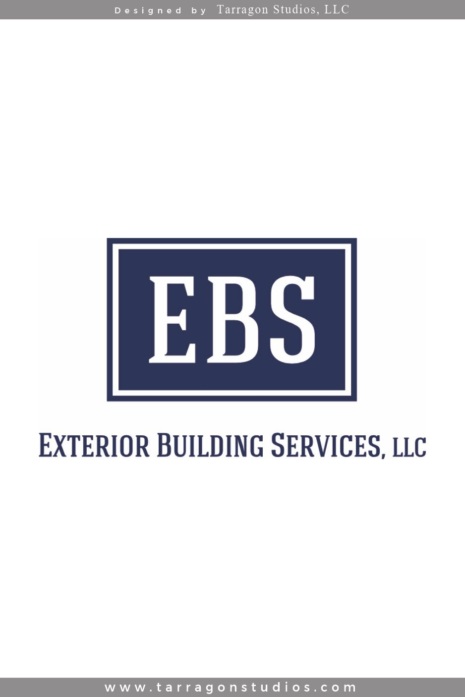 EBS, Exterior Building Services Logo Refresh by Tarragon Studios. Keep Reading to see all the logo variations! #logo #design #construction #masculine