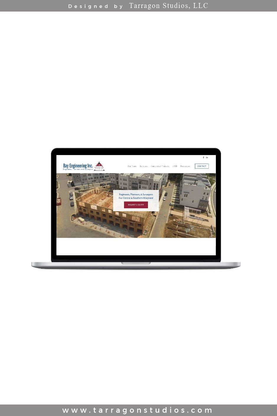 Bay Engineering, Inc Website Design by Tarragon Studios. Keep Reading to see how we pulled this website together! #website #design #construction #masculine