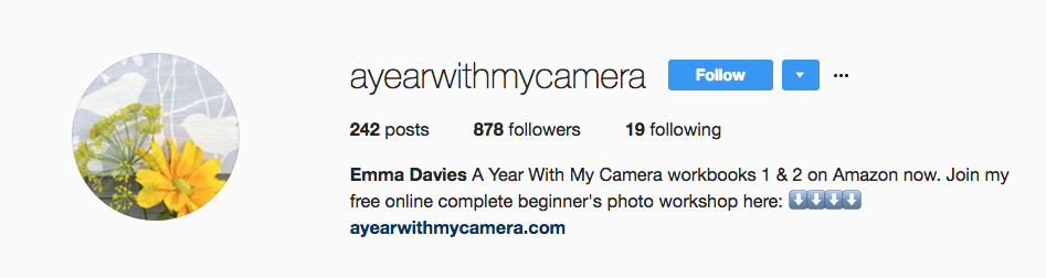Follow  @AYearWithMyCamera  on Instagram