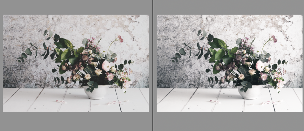 VSCO HB2 is on the left. Mine (on the right) is a little cooler. Play with the temperature slider, and split toning panel to fine-tune.