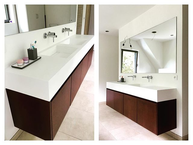Floating bathroom furniture #n14 #awesomefurniture #koriantop #wengeveneer #hugemirror #drawers