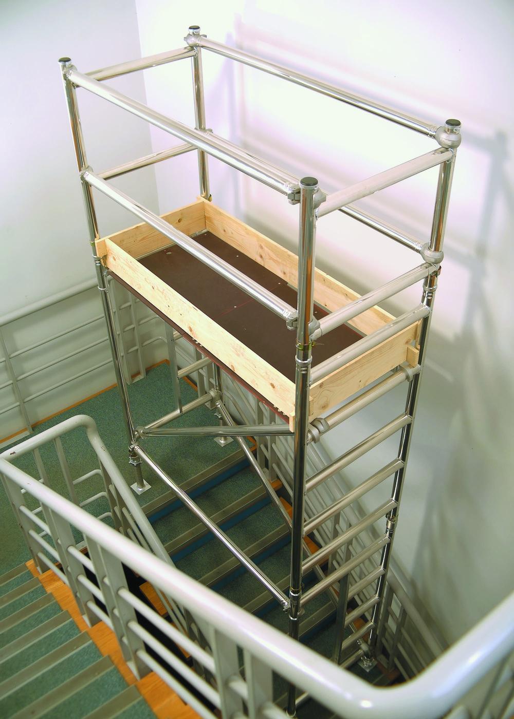 stairwell access unit | Aluminium podium | aluminium scaffolding | euro towers