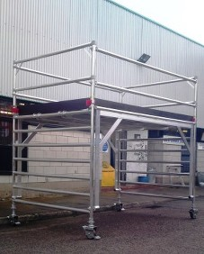 double high clearance, aluminium access, euro towers, bespoke access