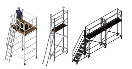 3d modelling, bespoke applications, euro towers, design, scaffold, access equipment