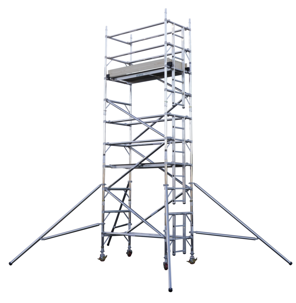 Aluminium access tower system | Euro Towers | Mobile tower | Scaffolding Tower