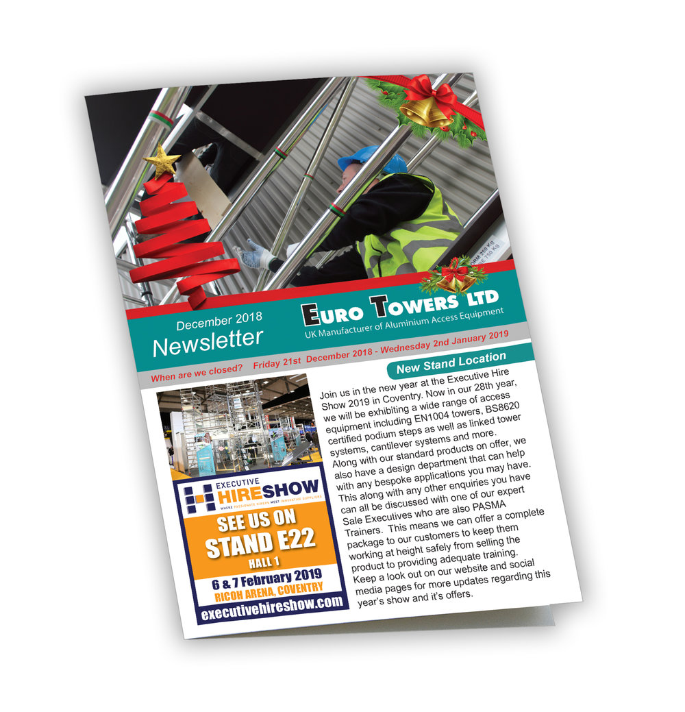 euro towers, newsletter, aluminium scaffolding, mobile towers, 3t tower, agr tower