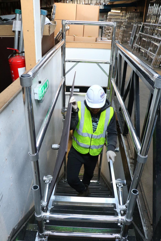 Stair landing unit,  aluminium scaffolding, euro towers