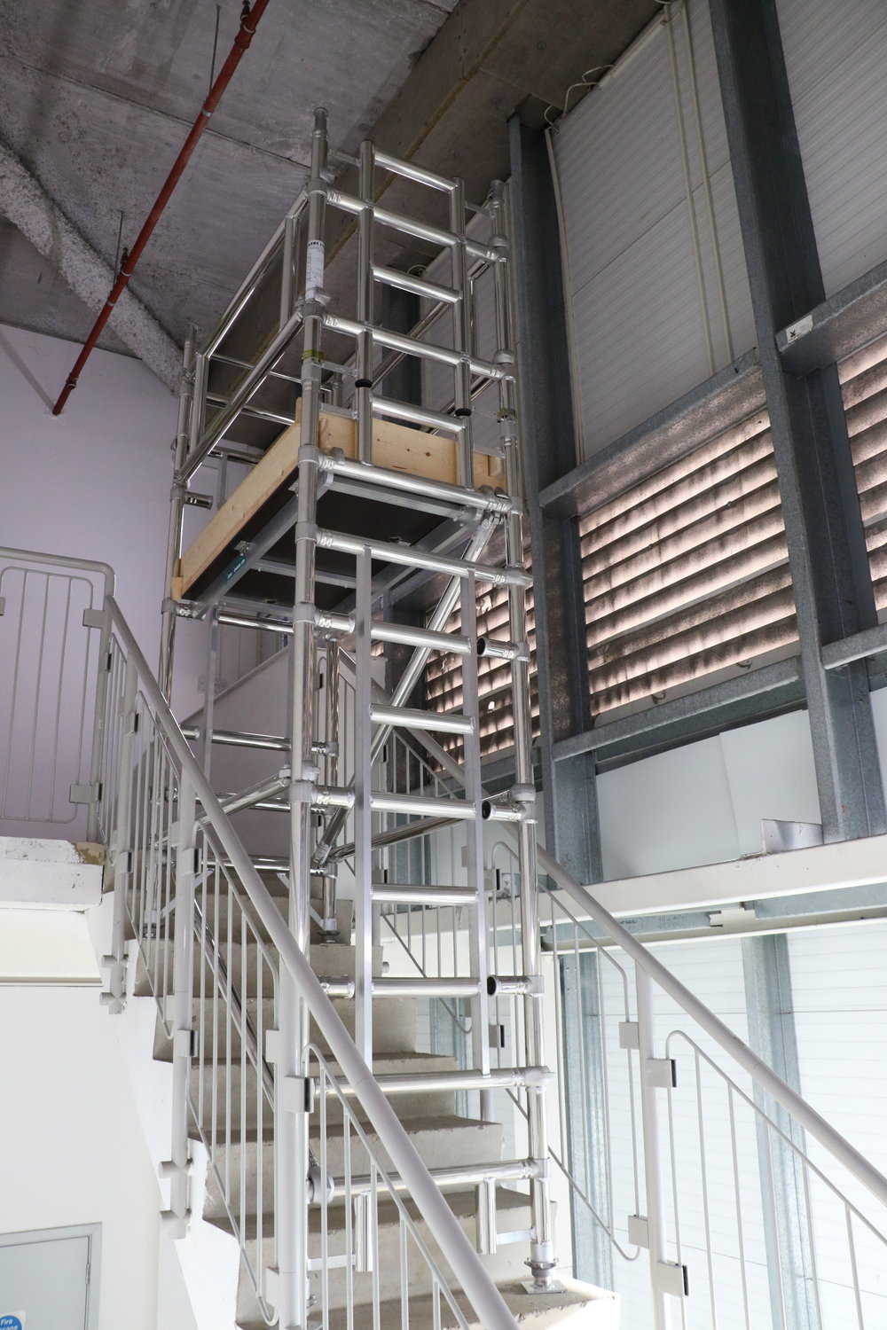 Towers on stairs course