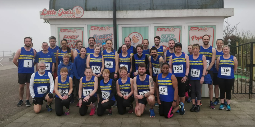 Team LRR at the Lowestoft 5 Mile Prom Dash