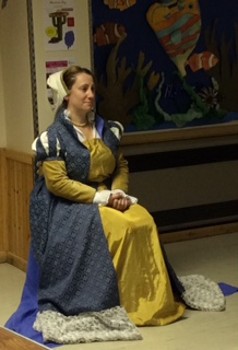 Lianne poses in her Tudor dress.