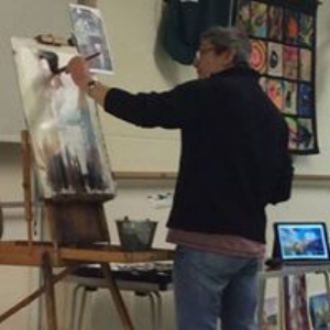 KEITH HORNBLOWER DEMONSTRATED HIS METHOD OF DRAWING AND WATERCOLOUR PAINTING