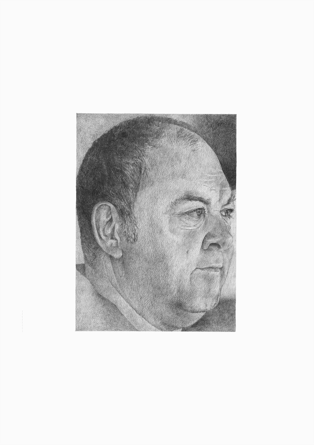 Mark Addy,  2016. Pencil on card. 21 x 29.7 cm.