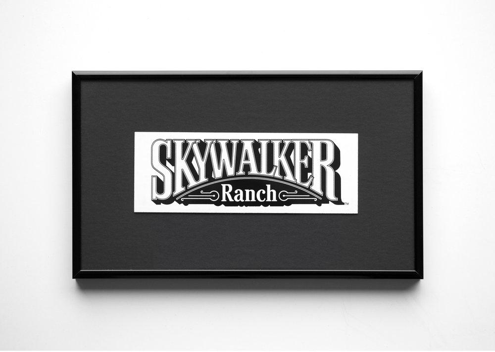 Skywalker Ranch logo , 2018. Vinyl sticker. 2.5 x10 cm.