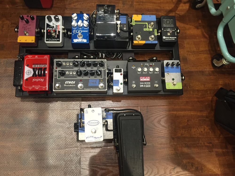 Khalil's new pedalboard in full