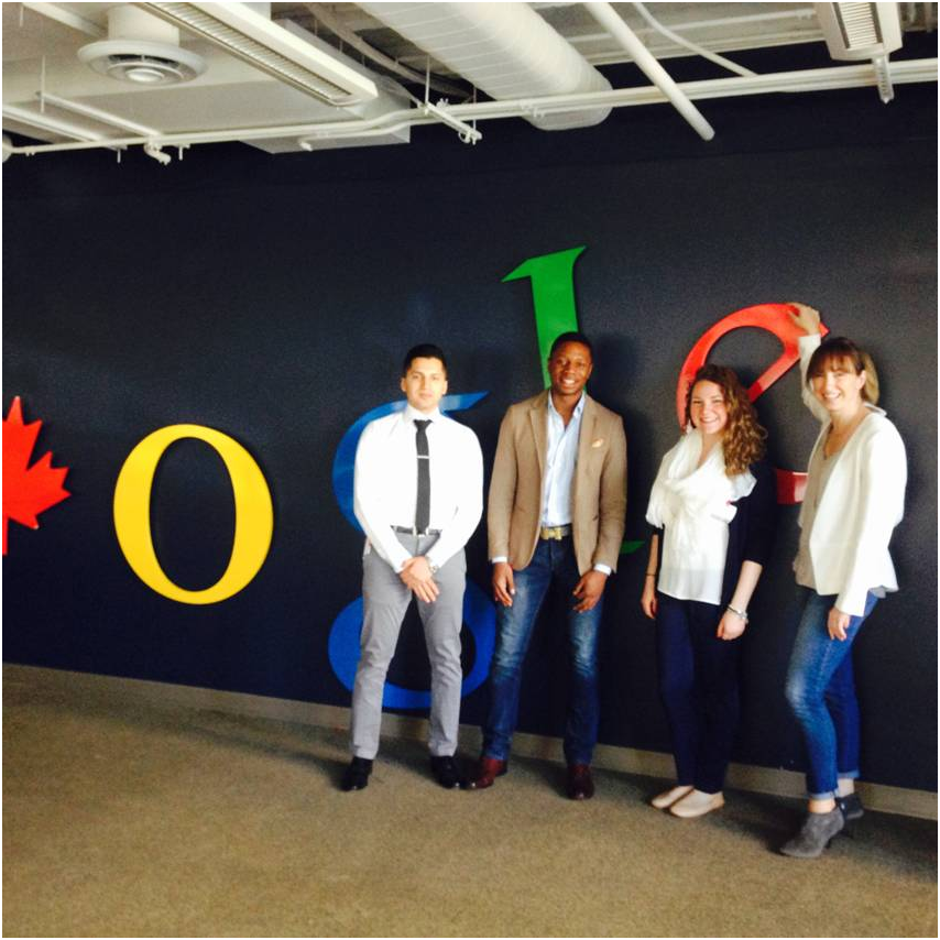 Our Winners (from left to right): Aryan, Ben and Sarah and Google Account Executive (far right) Kim