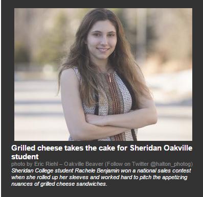 Rachelle Benjamin in the Toronto Sun