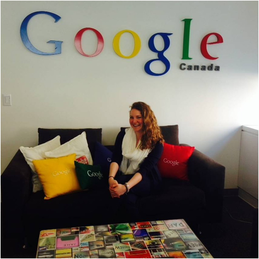 Sarah (Wilfrid Laurier) at The Google Office