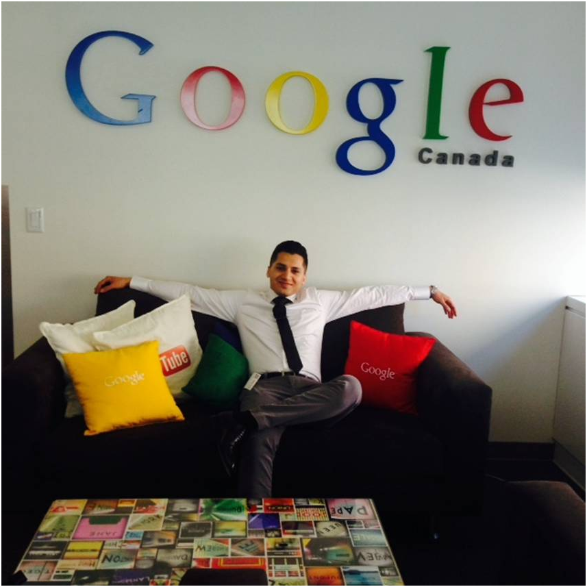 Aryan (The University of Toronto) at The Google Office