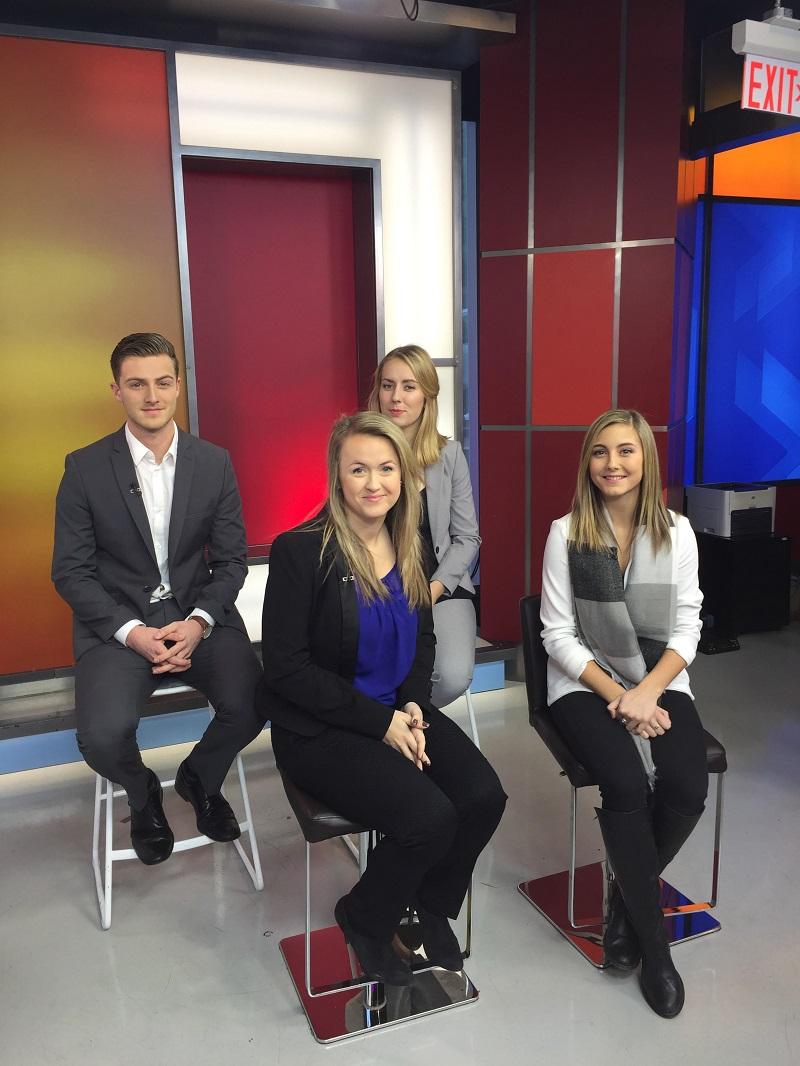 From top left to right: Nicholas Lambis (GCSC Ambassador), Matiya Szauer (GCSC Ambassador), Sheila Cassidy (GCSC Director) and Vanessa McMullen (GCSC Ambassador) on The Morning Show