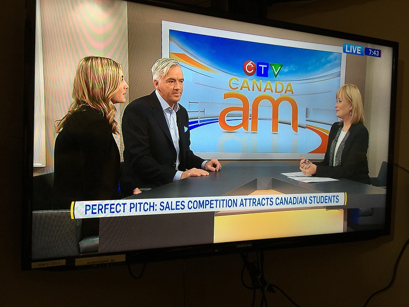 Jeff Guthrie (CSO, Moneris) and Vanessa McMullen (GCSC Ambassador) on Canada AM