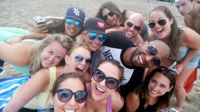 Volleyball beach day with the Toronto Team