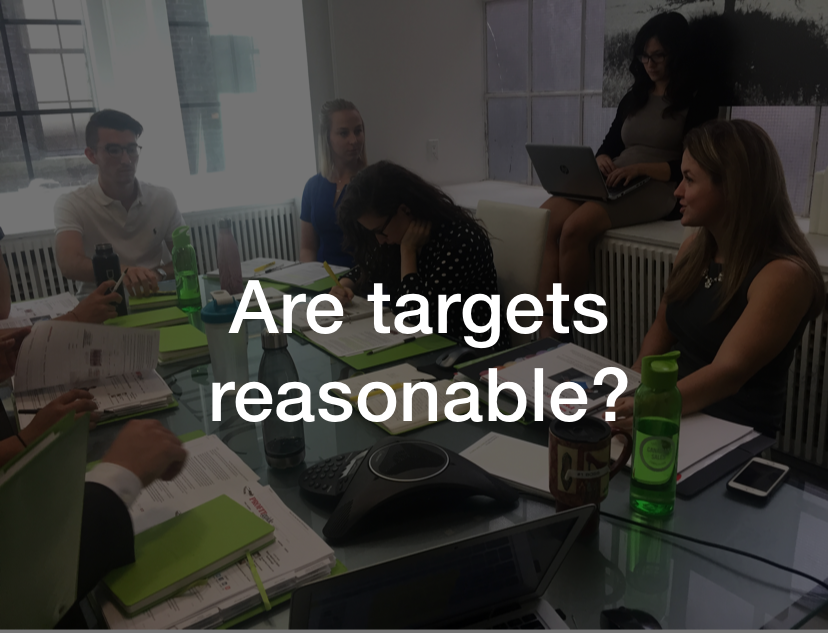 Are targets reasonable?  See what Meredith Martin, Senior Account Manager, had to say about this  here .