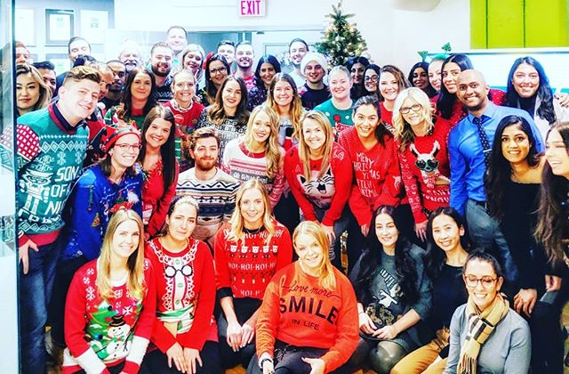 We finally did it..brought Toronto and Vancouver teams together for the holidays! Cheers from our family to yours! Happy Holidays! #uglysweaters #workfamily #STAtoday