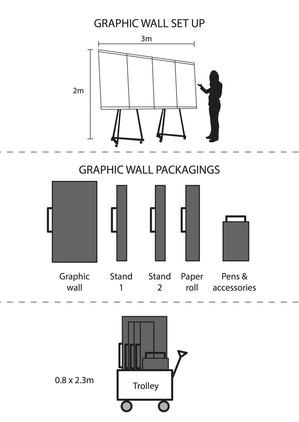 Graphic wall (300 x 200 cm)